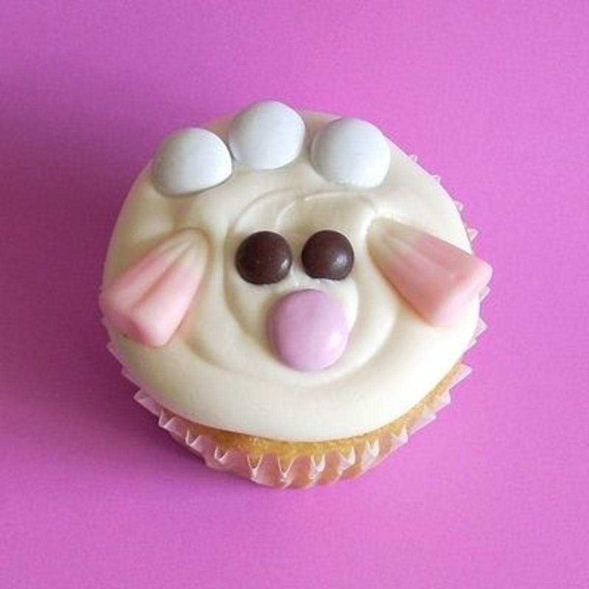 Cute Lamb Cupcake