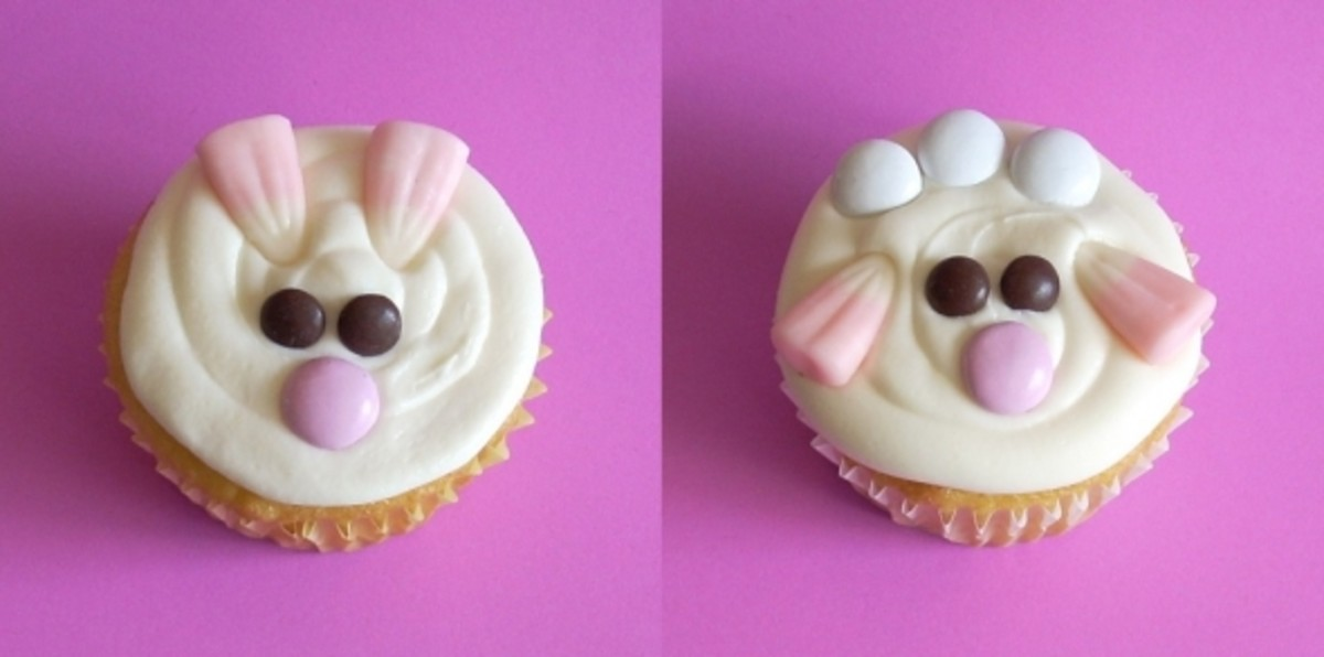 Lamb and Bunny Cupcakes