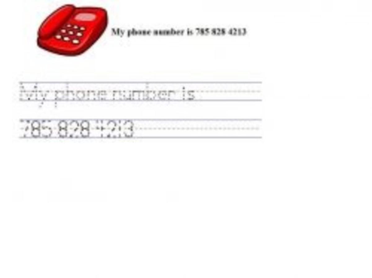 write phone number
