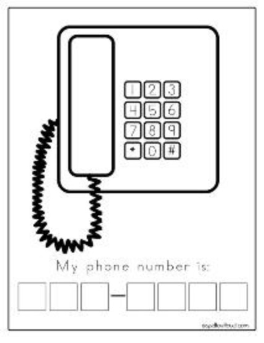Writing Your Phone Number