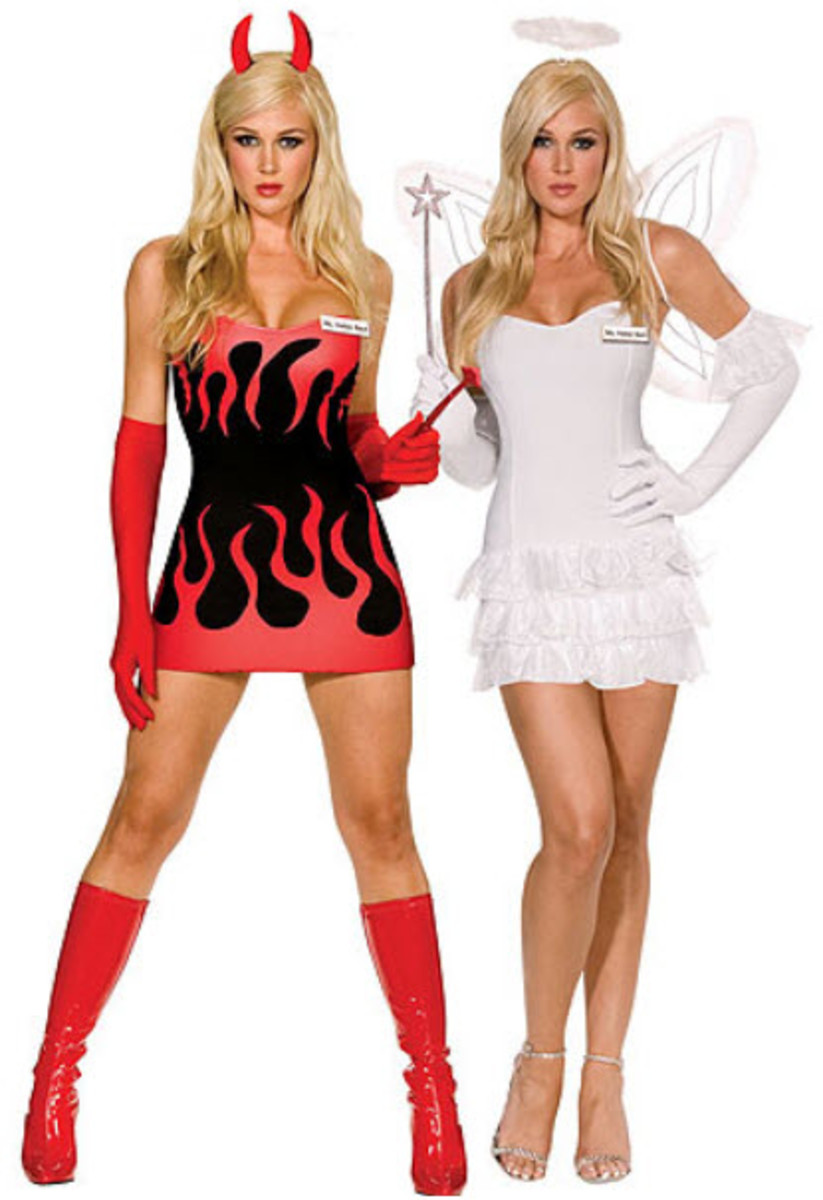 If you can't decide whether to be evil or good, get this costume. It's reversible, making you go from angel to devil in a second.