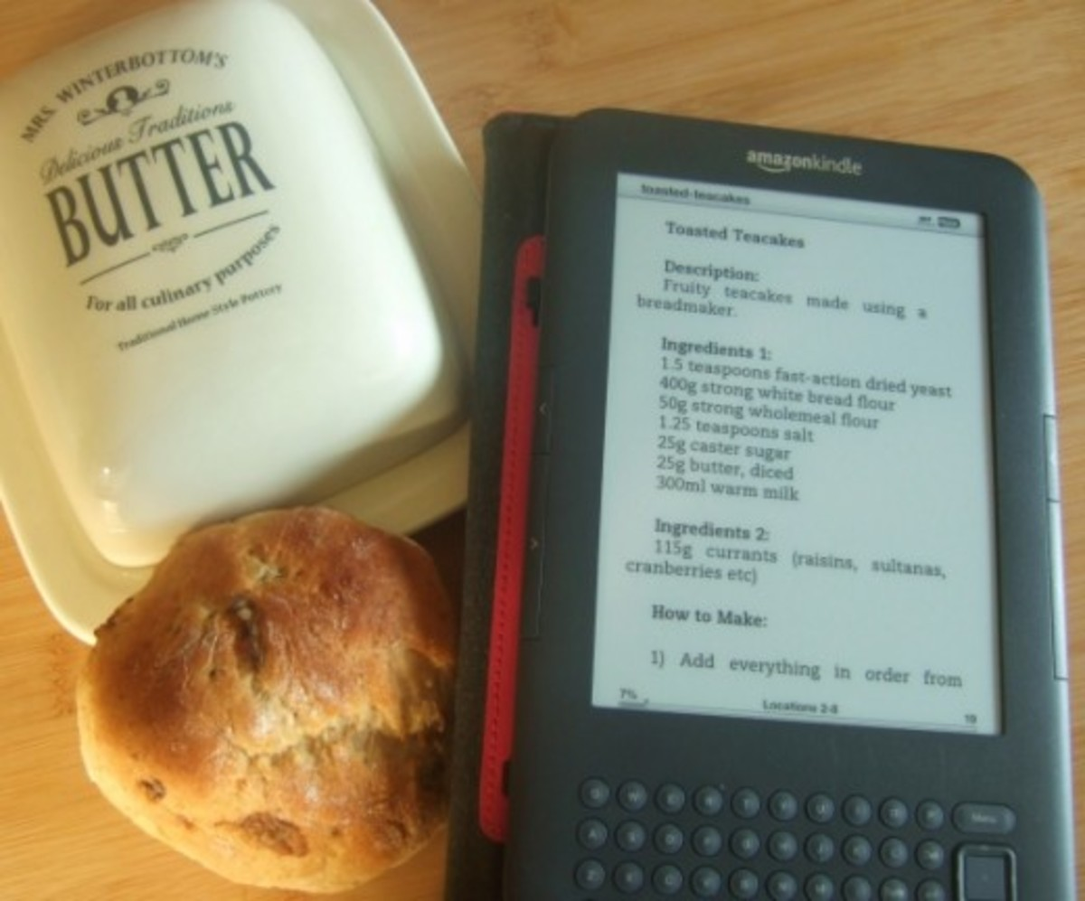 Using a Kindle for recipes in the kitchen