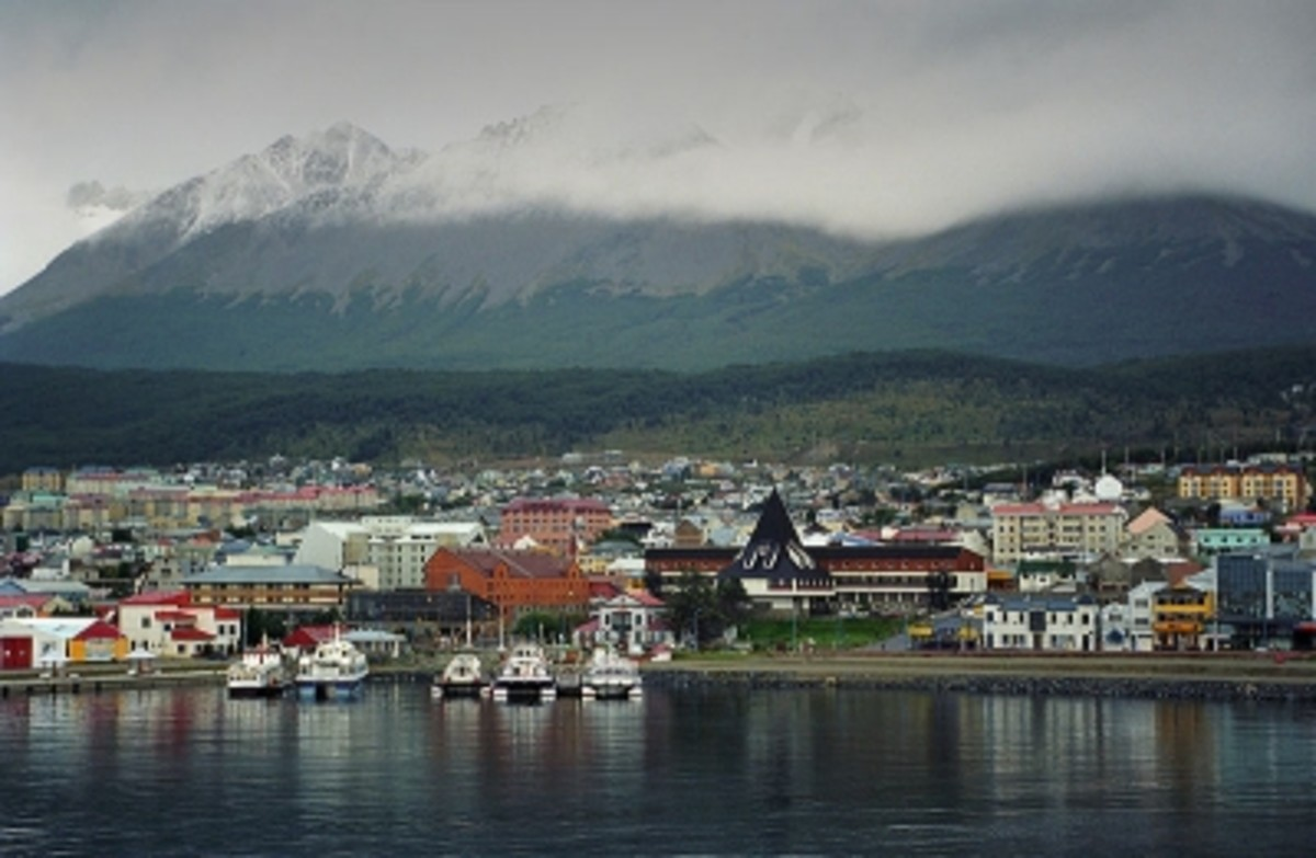 Ushuaia, the southernmost city in world, on Tierra del Fuego