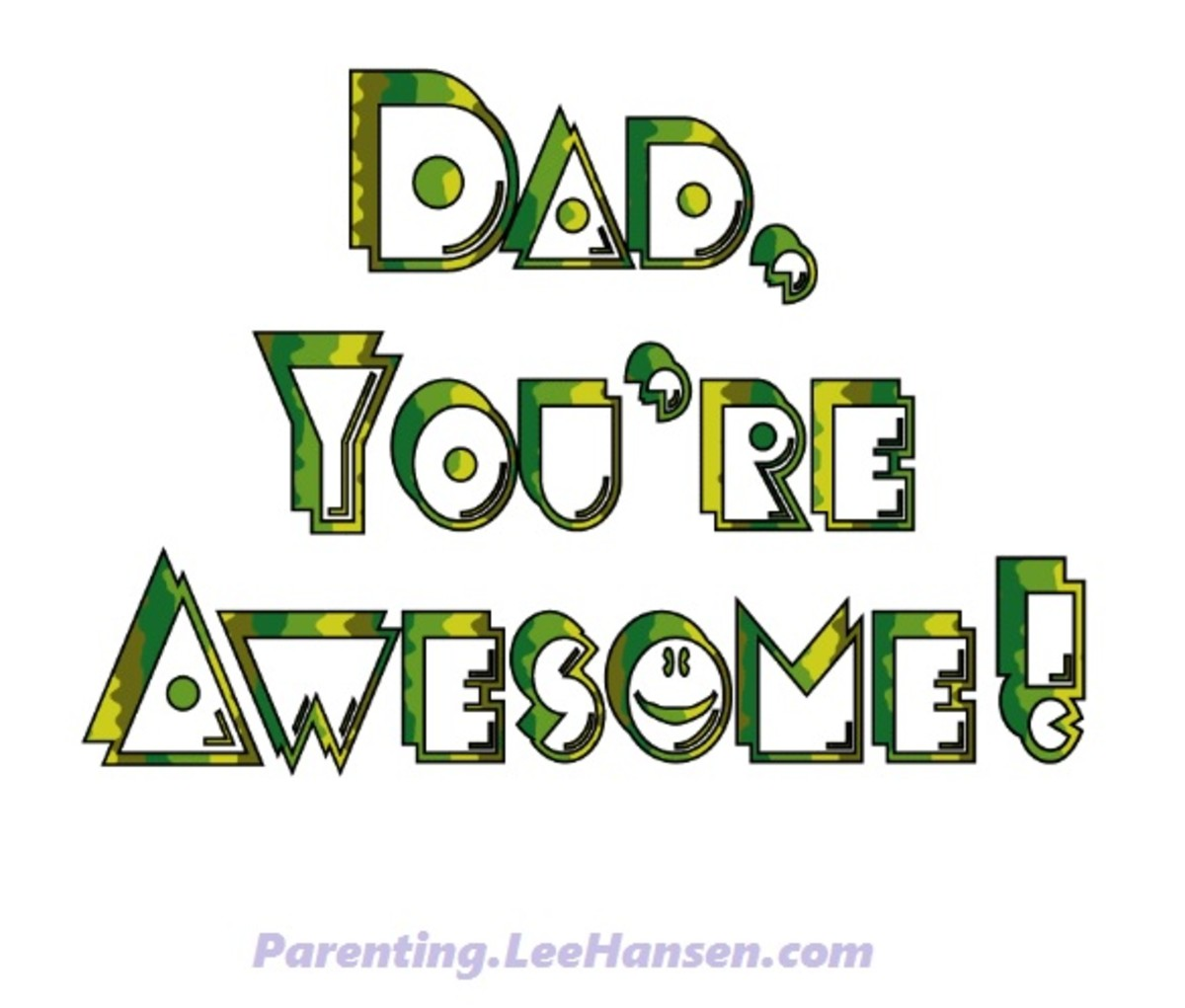 Dad, You're AWESOME printable camo lettering sign