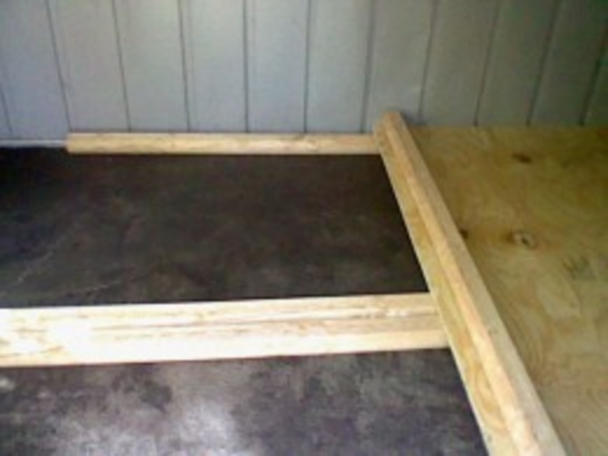 platform in the chicken coop