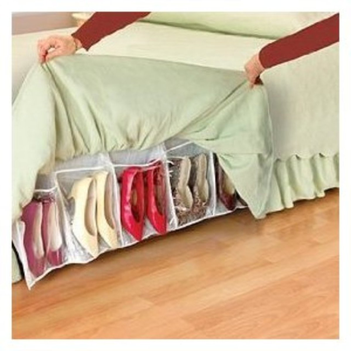 Bedskirt Shoe Storage