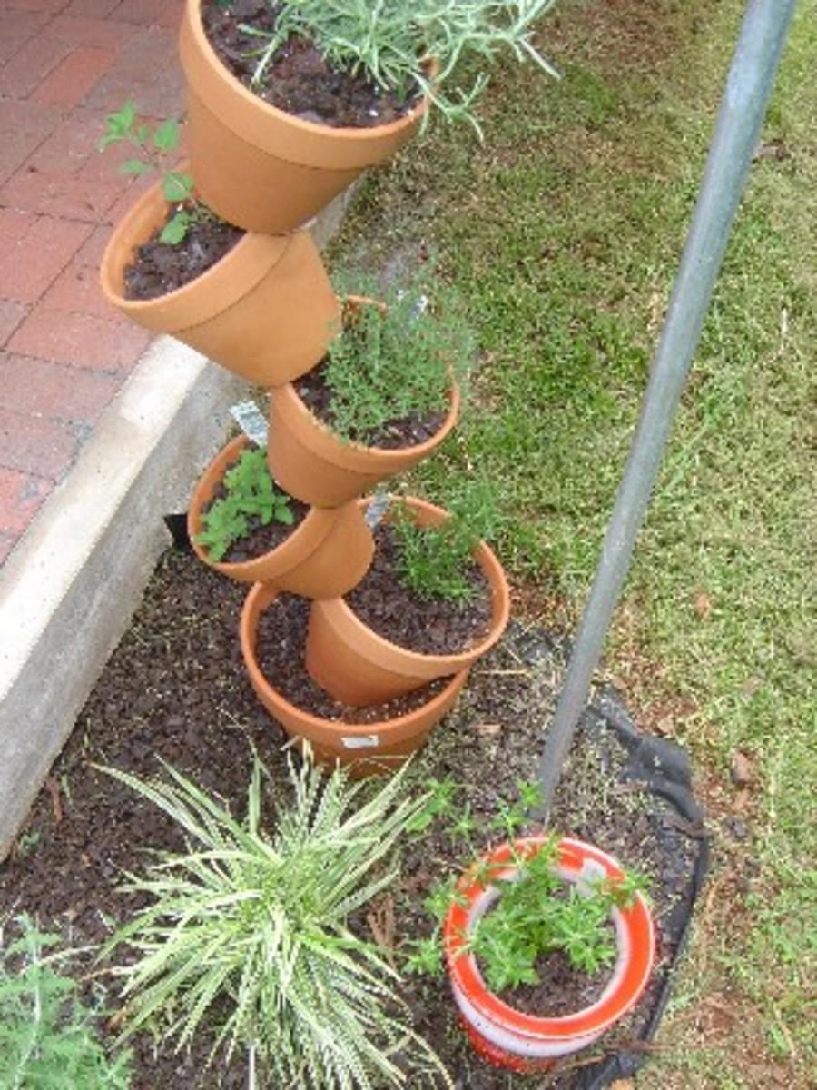 Tipsy Pot Planter Herb Garden Saves Space