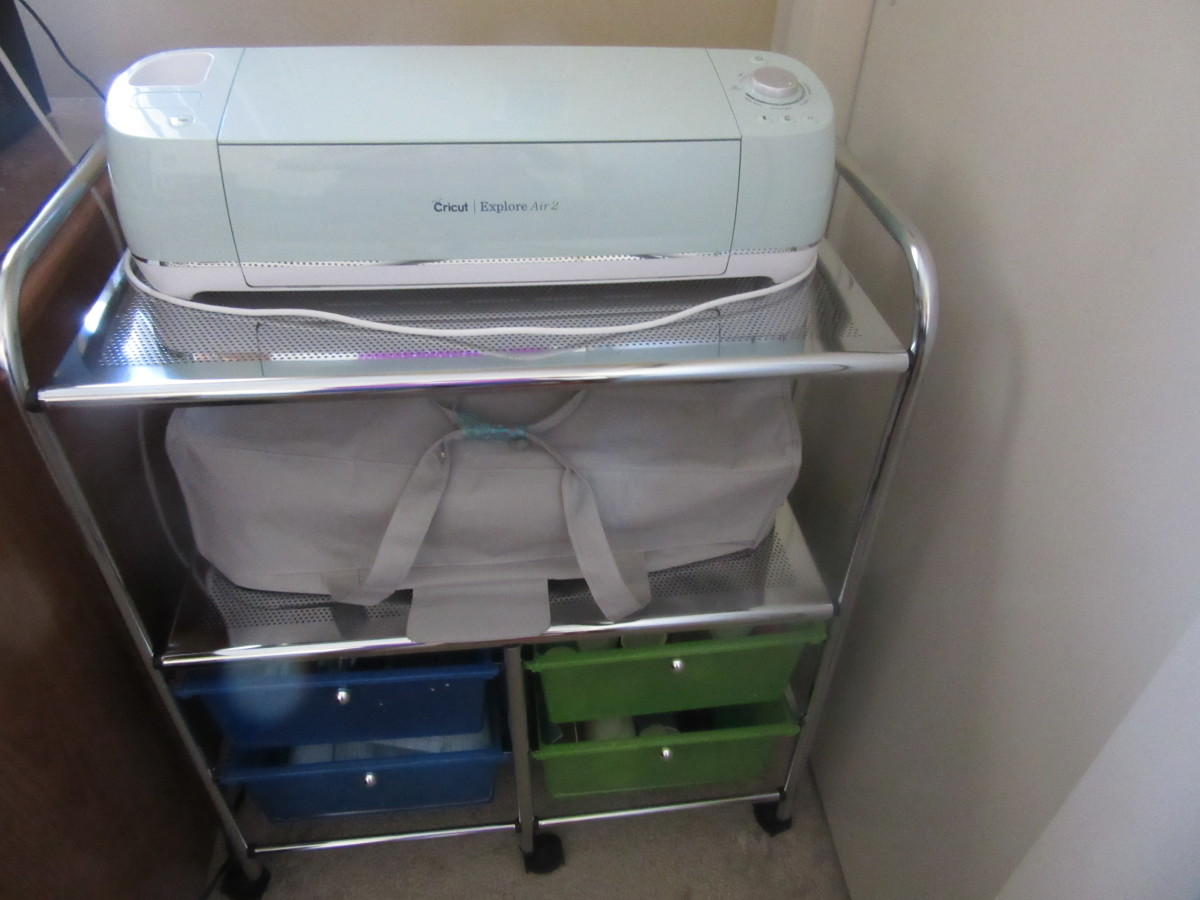 This is the cart in my craft room used to hold my two Cricut machines