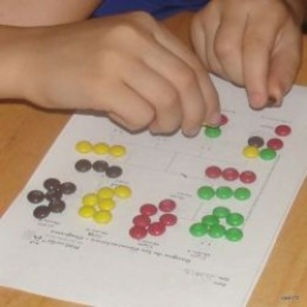 Observing how traits are passes through multiple generations by conducting the M&M Gingerbread Activity