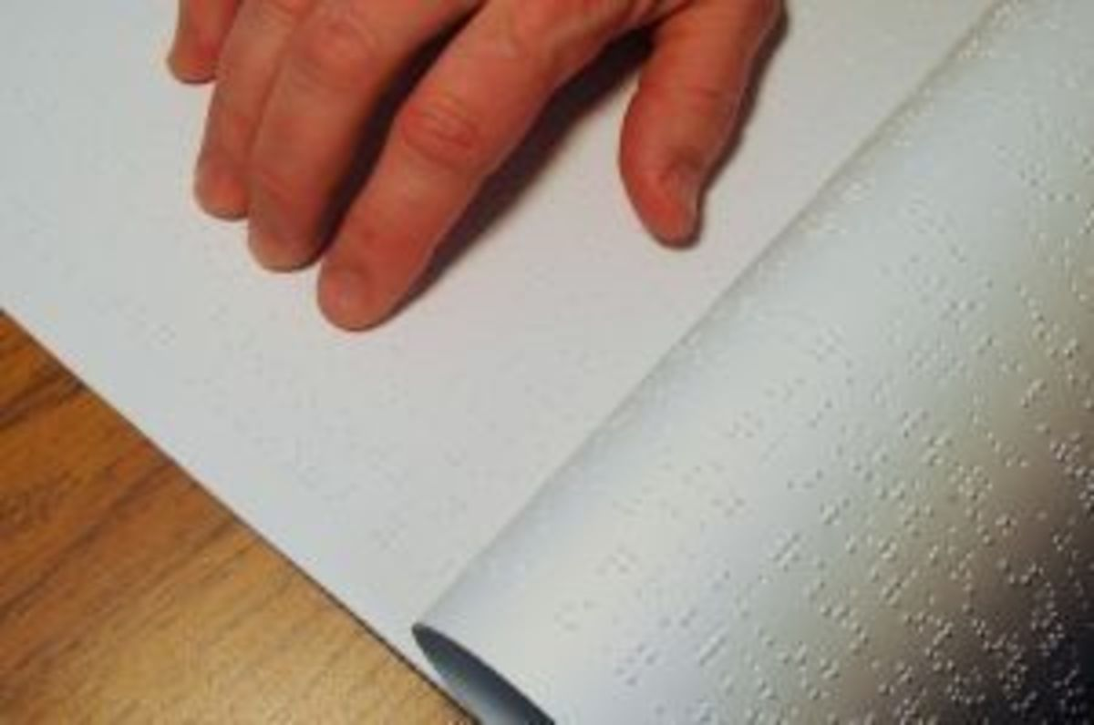 Free braille books are available for blind children.
