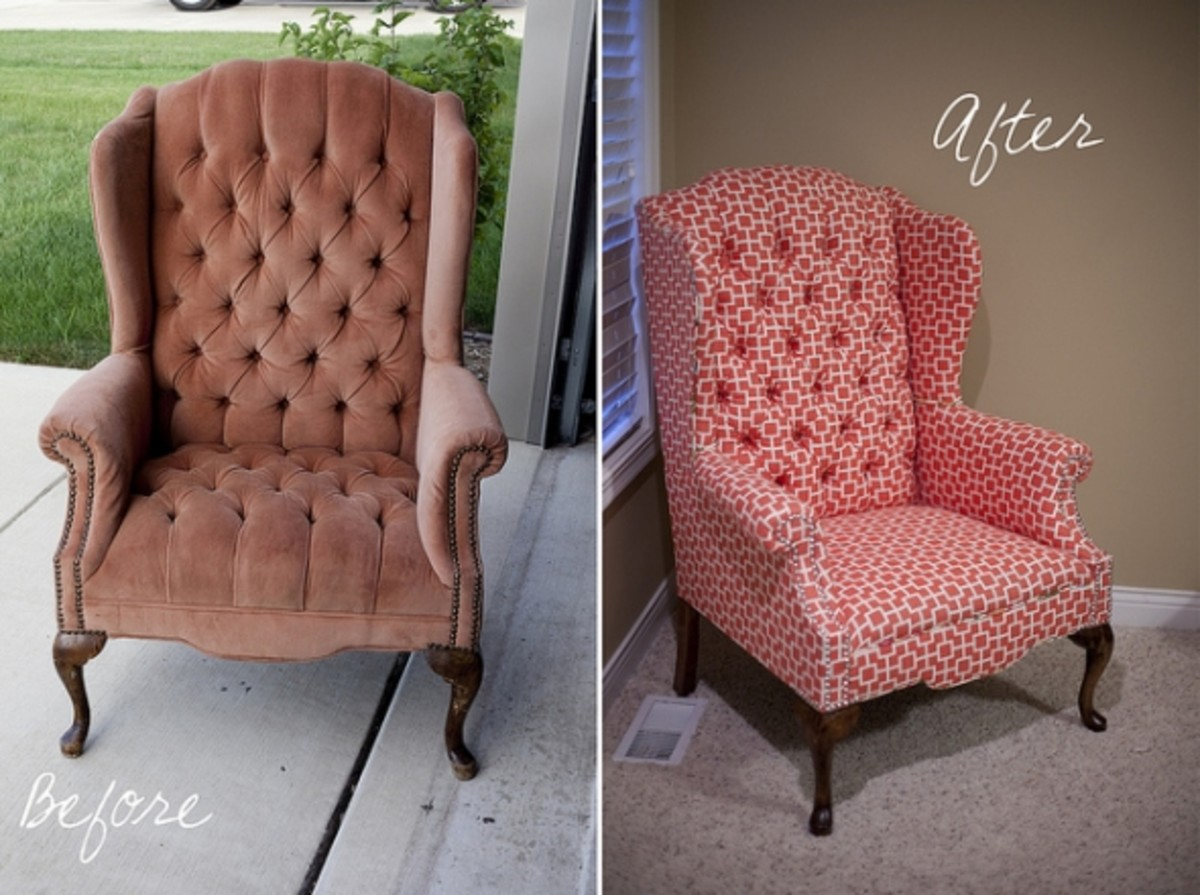 Superbe Reupholstering Can Dramatically Change The Look Of A Chair, And I Love The  New Modern