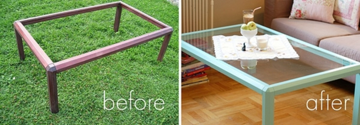 Restyling of an IKEA table.