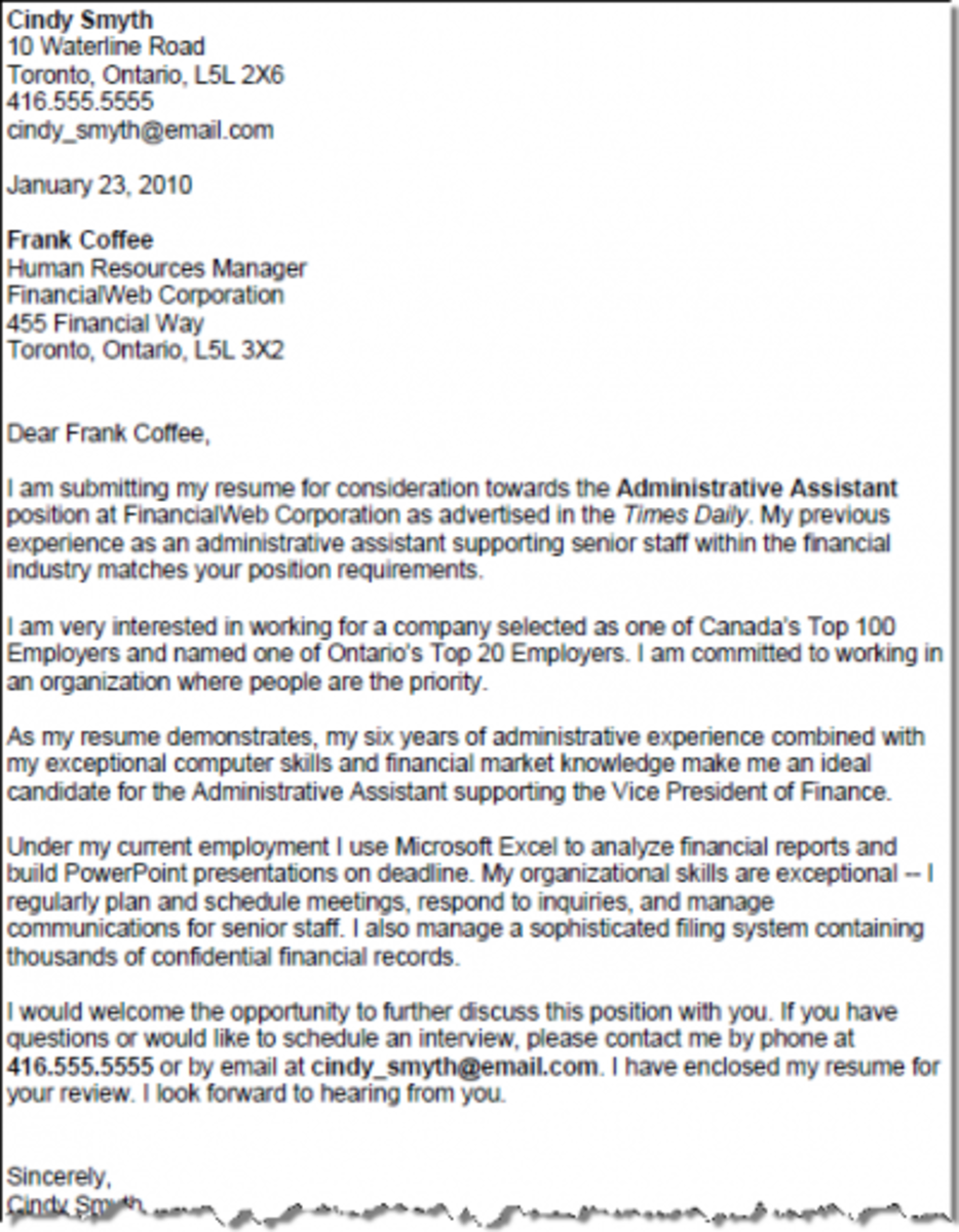 sample cover letter for clerical assistant