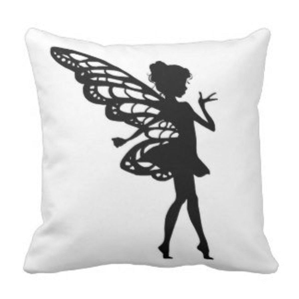 Fairy Silhouette Pillow