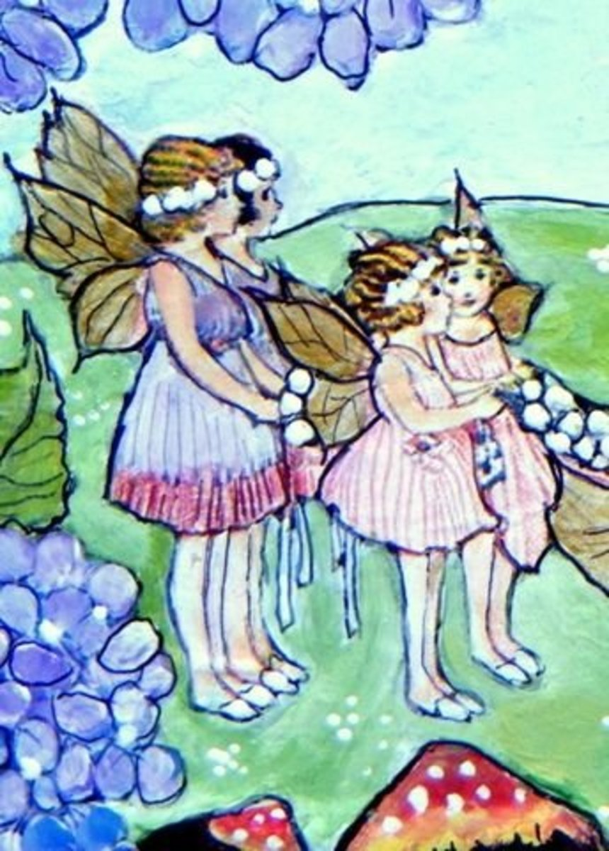A Fairy Wedding in the Meadow (Sold)