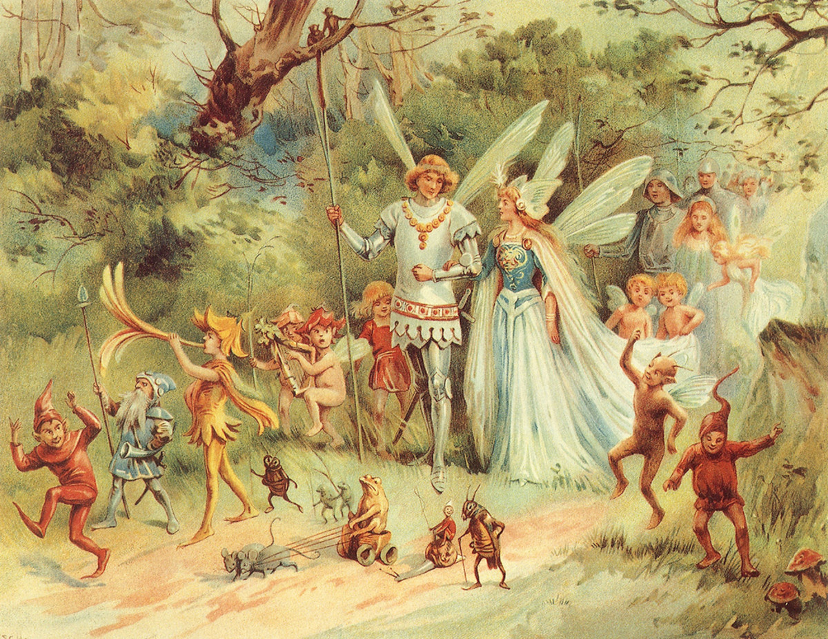"""""""The Arrival of the King & Queen of Fairies"""" by E. Stuart Hardy"""