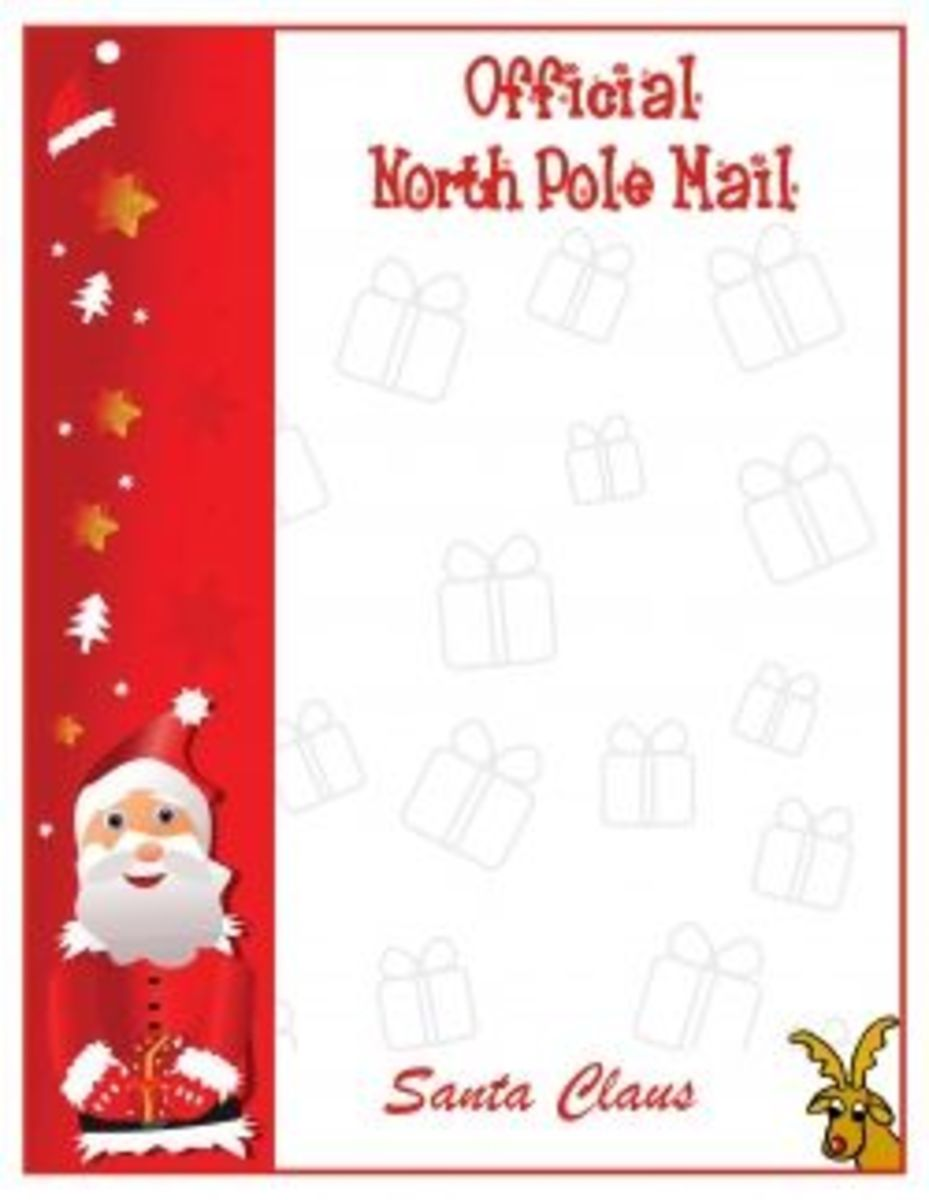 10073873_f520 Santa Claus Response Letter Template on classic face, hat cut out, business cards, paper cut-out, already colored, beard cut out, body cartoon, clip art,
