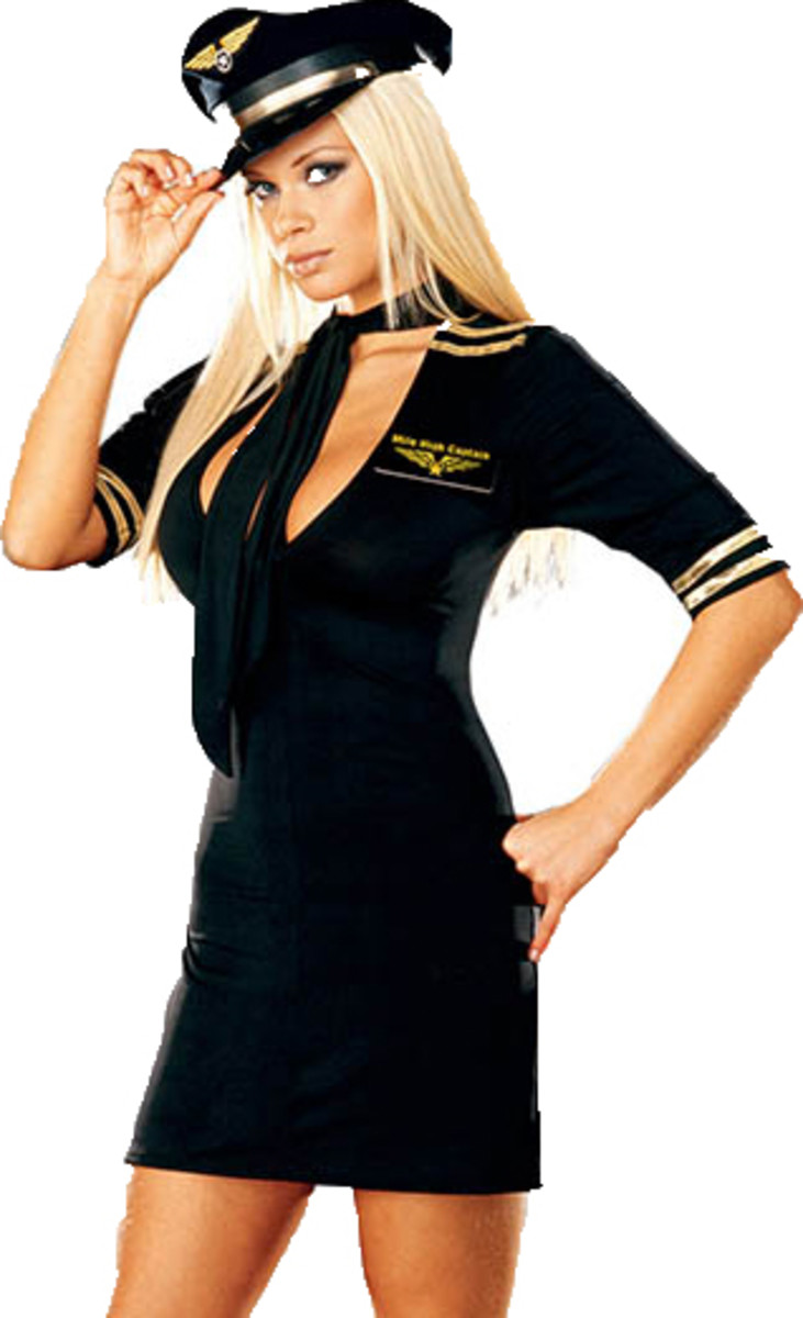 A stewardess that wants her Captain Stripes