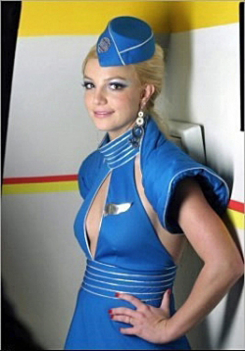 Briteny Spears dressed as a Flight Attendant in her 2004 video Toxic