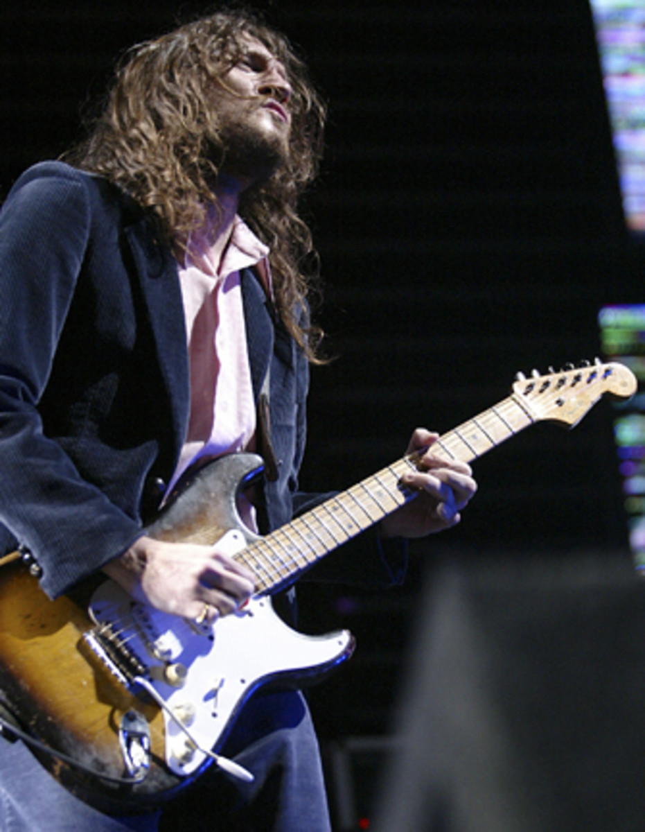 John Frusciante guitarist for the Red Hot Chili Peppers