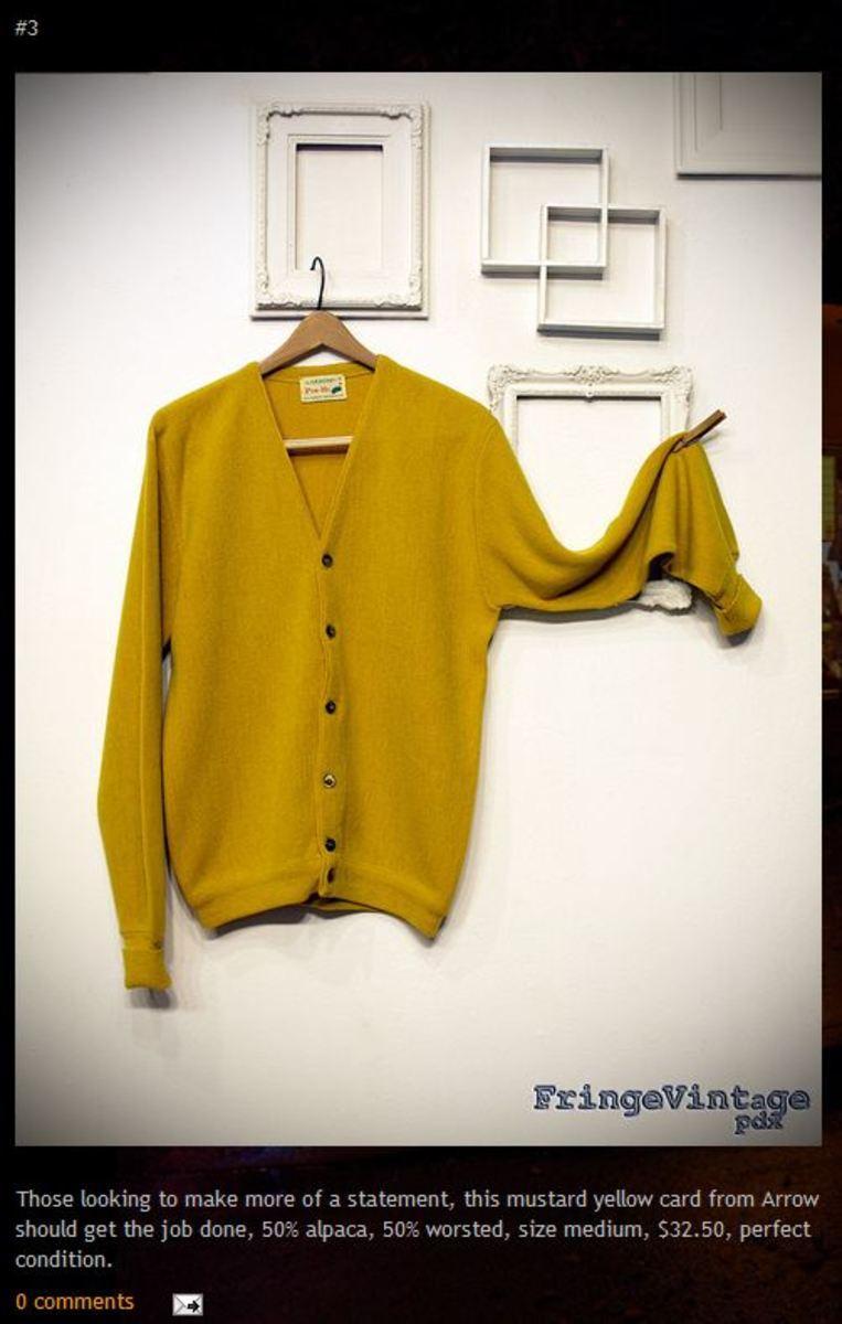 Fringe Vintage awesome mustard yellow sweater