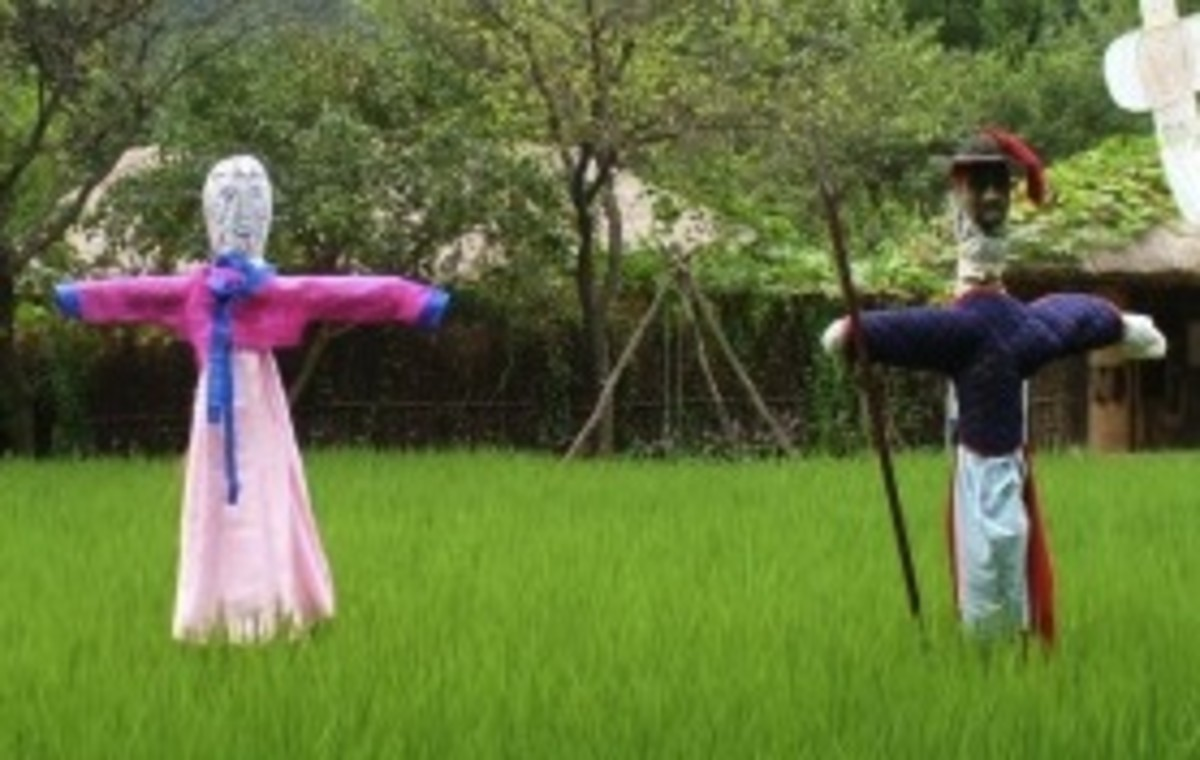 Korean Scarecrows