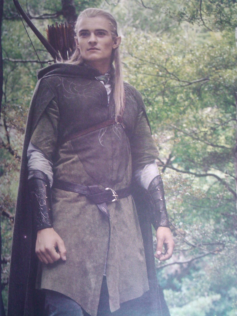 Orlando Bloom as Legolas, the Elf, in The Lord of The Ring