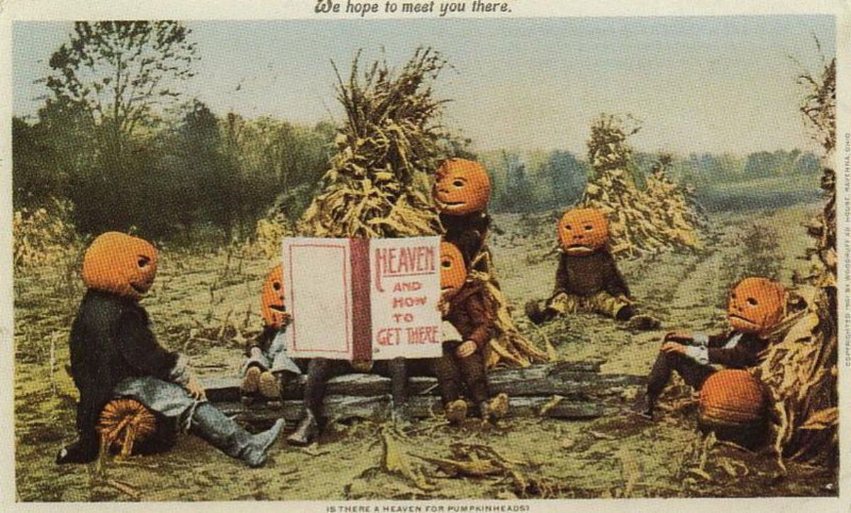 Heaven for Pumpkin Heads postcard, Ohio, 1901
