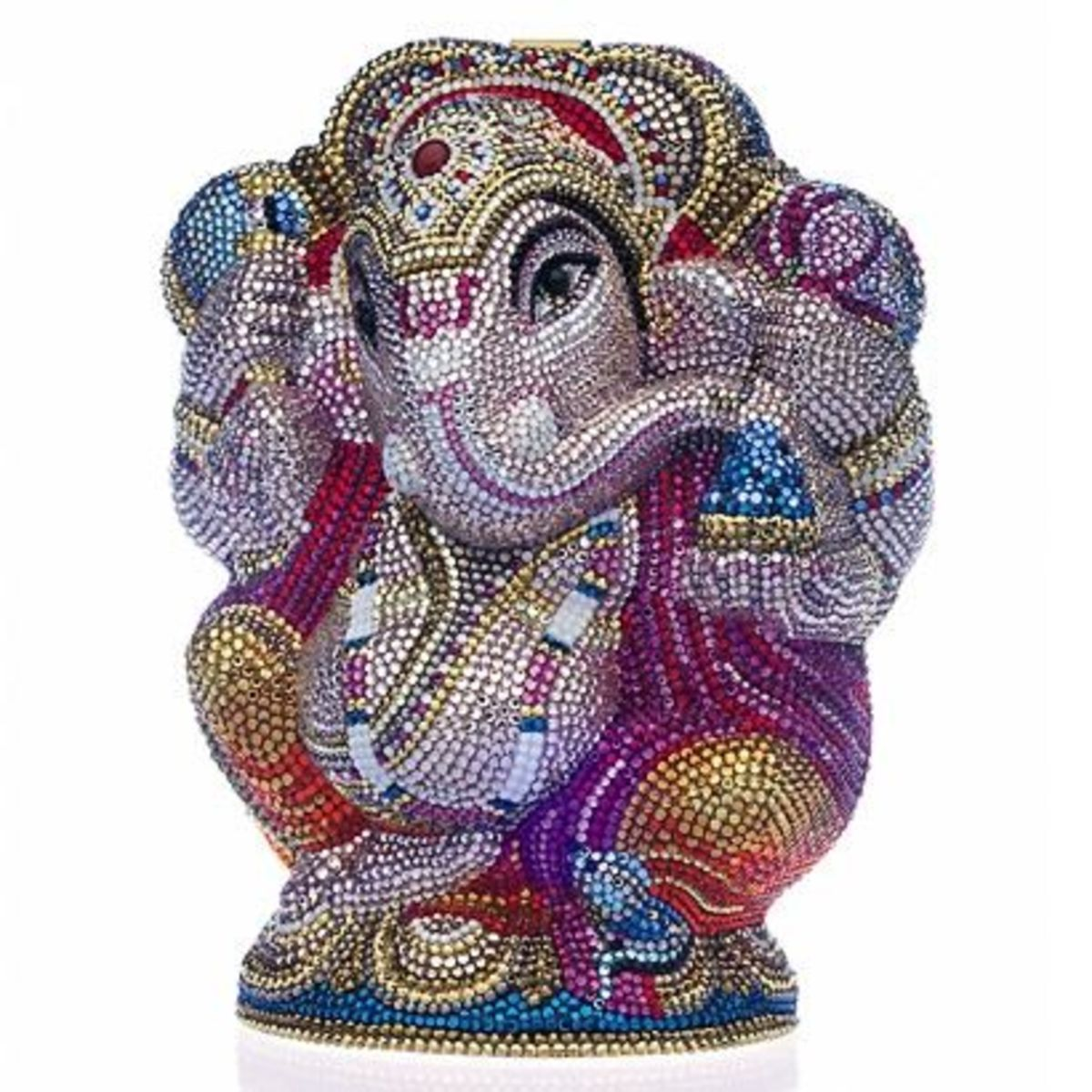 GANESHPrice: $5,595For those of you that want something that is exquisitely crafted, I know you will like this. It has been fully beaded with Austrian crystal. It has been accented by black onyx and carnelian. It will be beautifully boxed with a s