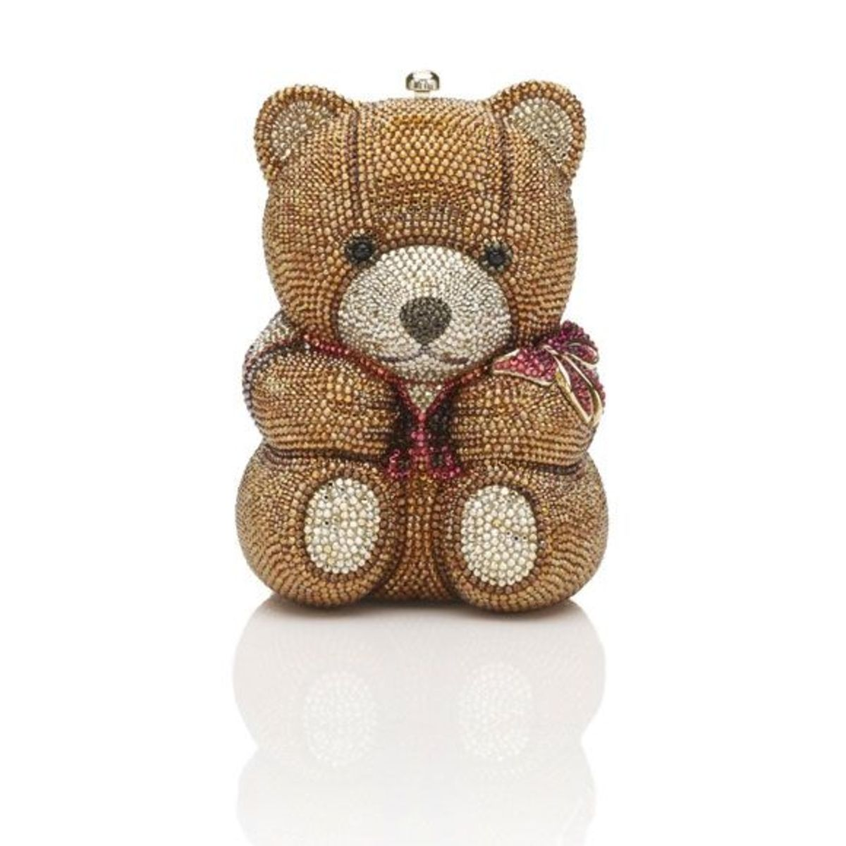 THEODOREPrice: $4,695Teddy Bear minaudière. Top snap closure, sculpted arm, leg and face detailing.Also available- Panda