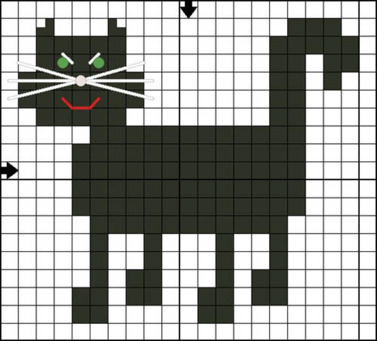 Halloween Cat Motif