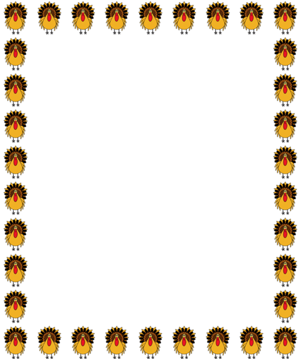 Turkey Frame Clipart