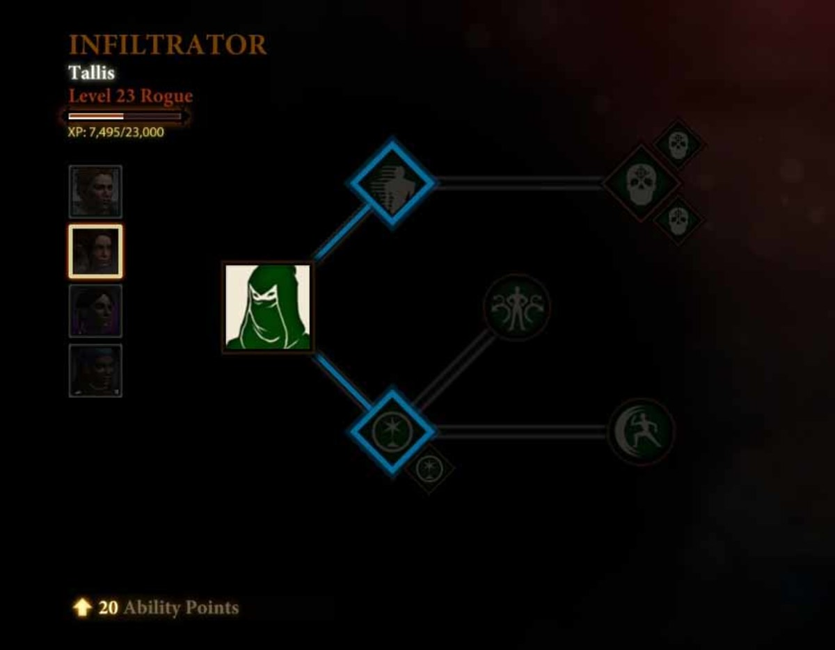 Dragon Age 2 Tallis Infiltrator Specialization Level Up Guide