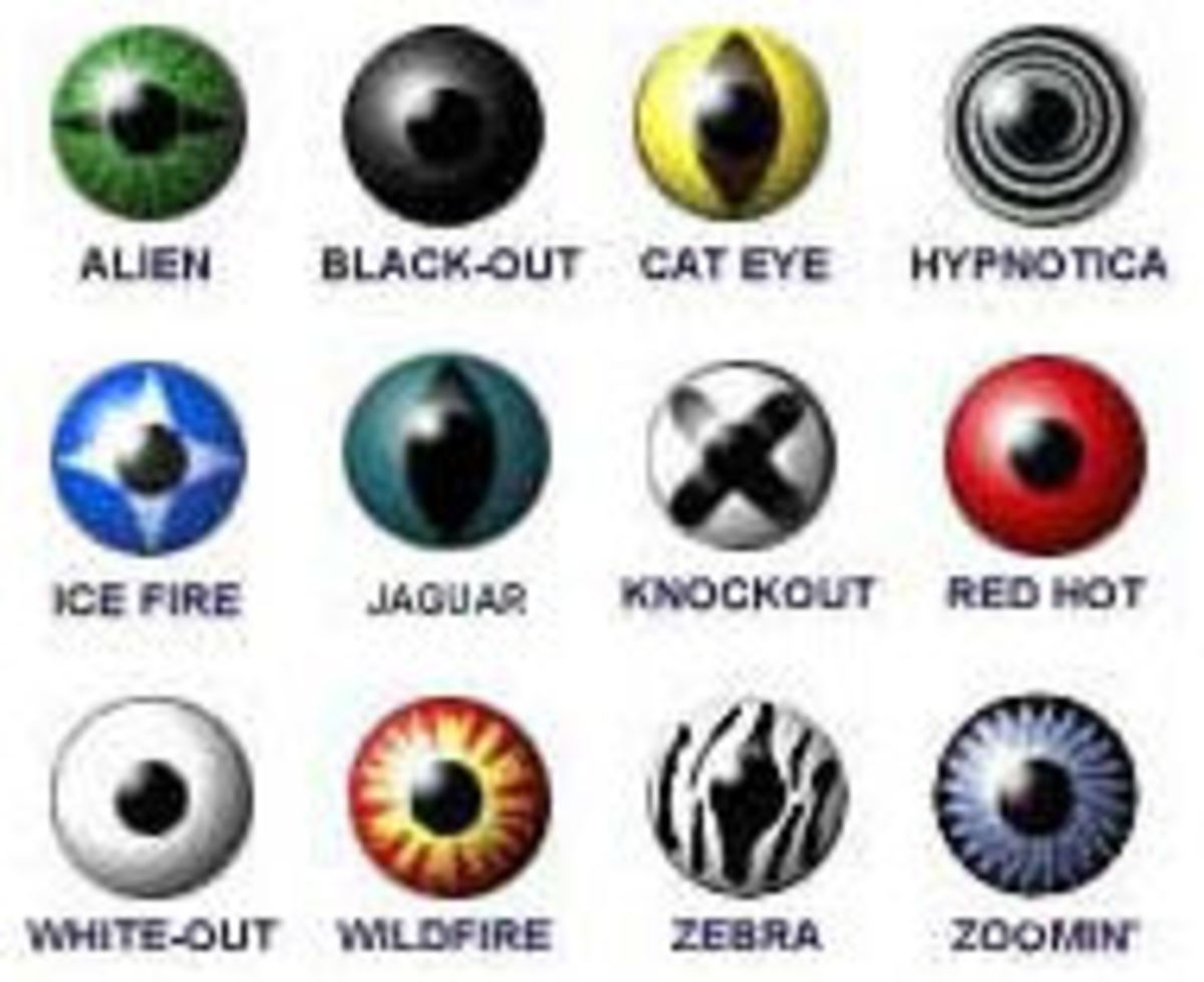 Contact lenses in all shapes and colors