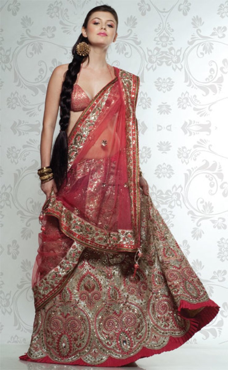 Lehenga design for brides