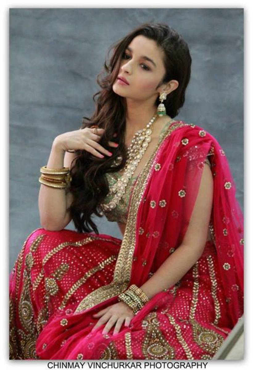 deep magenta wedding lehenga
