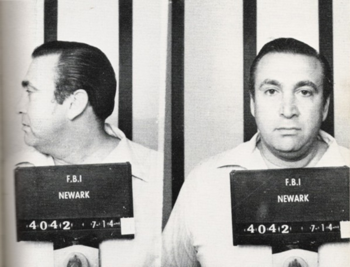 Roy DeMeo in a mugshot, he was a good mate of Kuklinski