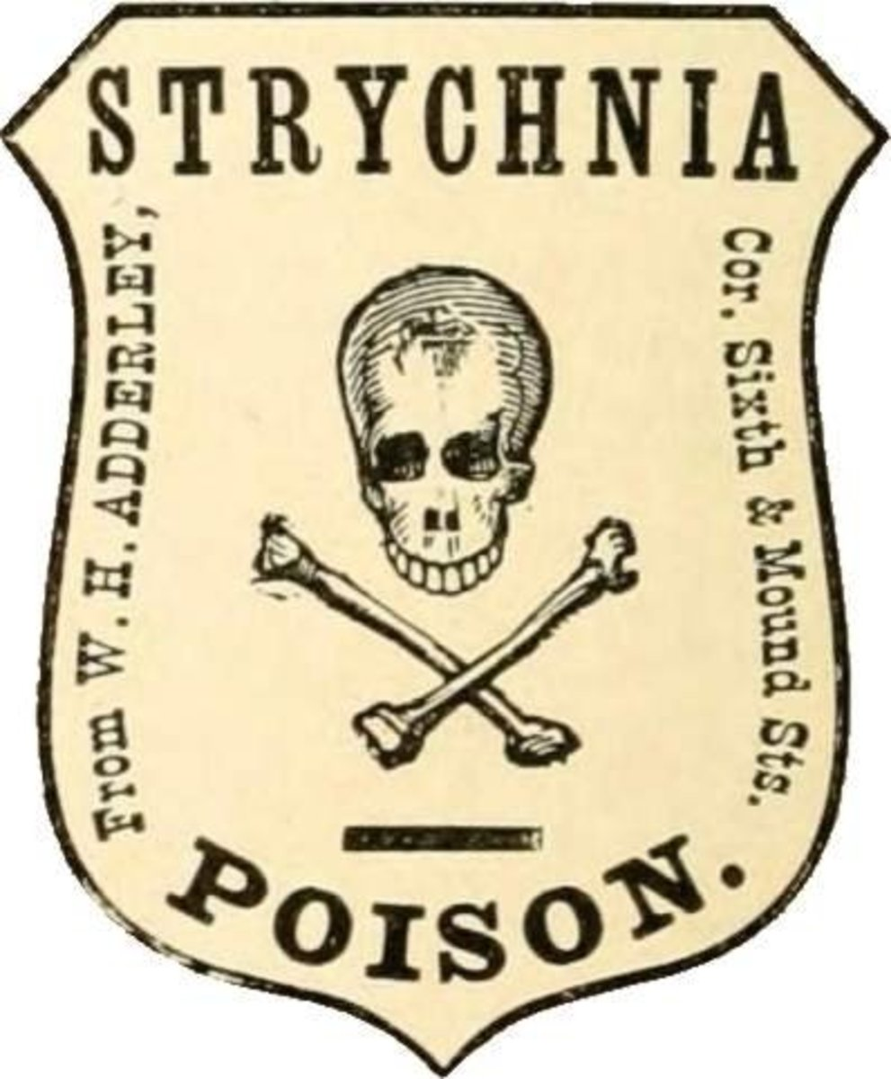 Poison Strychnine Label