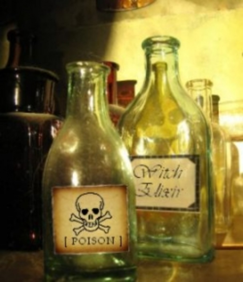Old Potion Bottles with Creepy Labels