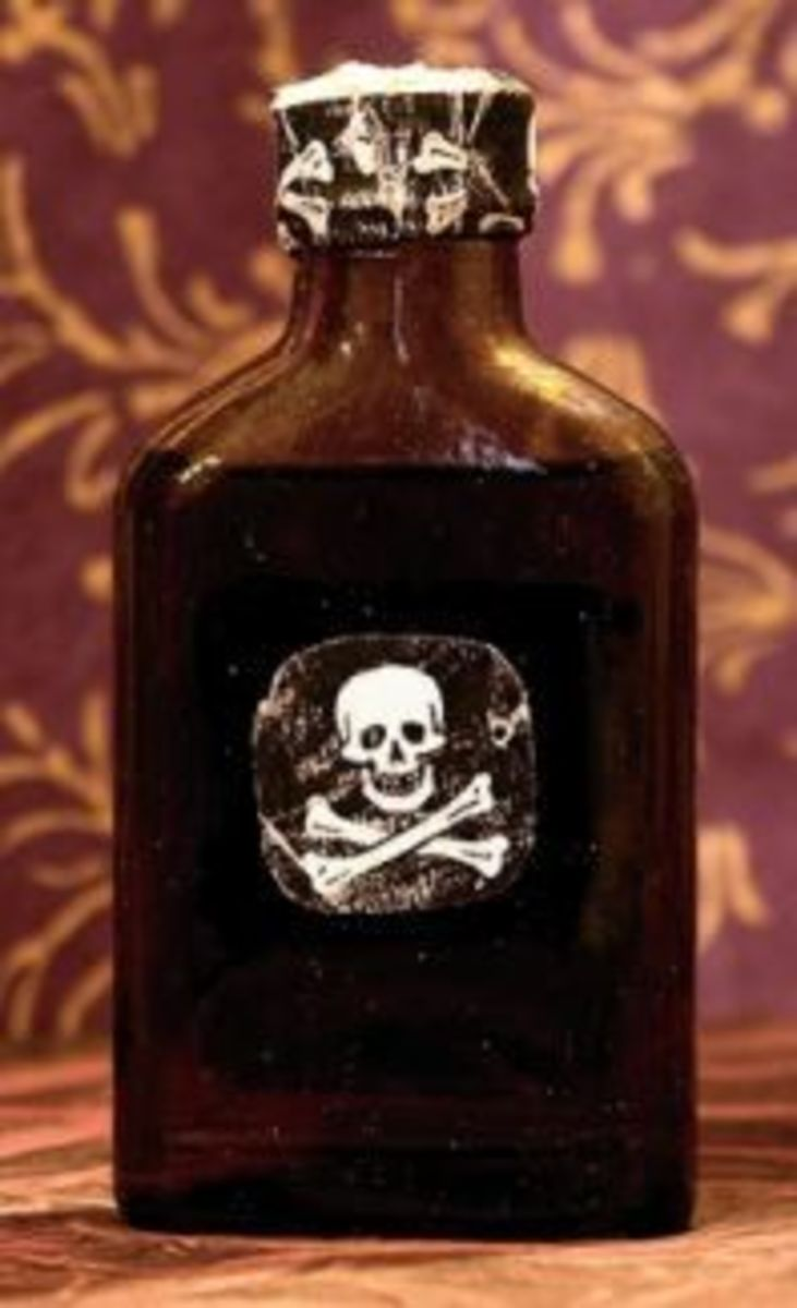 Skull and Crossbones Poison Bottle