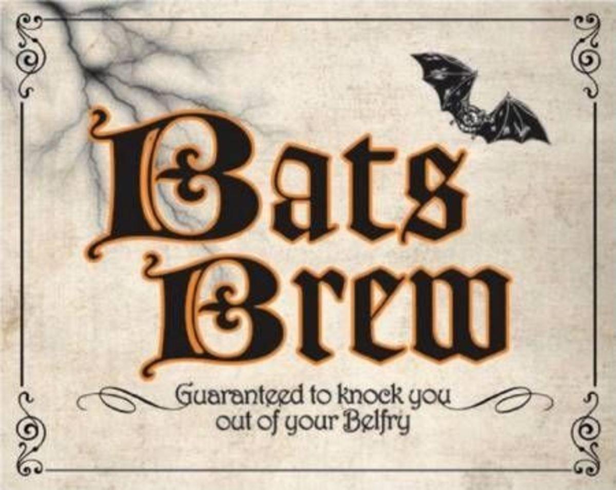 Shocktails Bats Brew Label