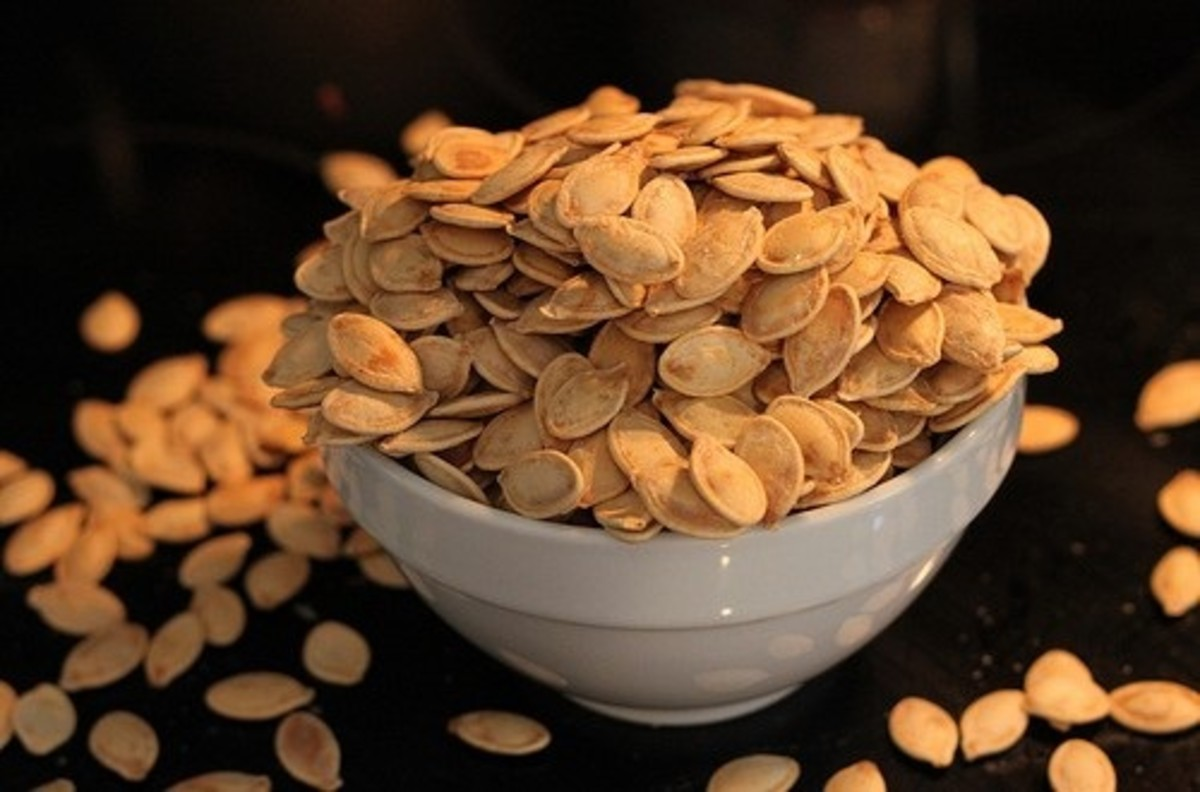 Toasted pumpkin seeds are salty, crunchy, and delicious