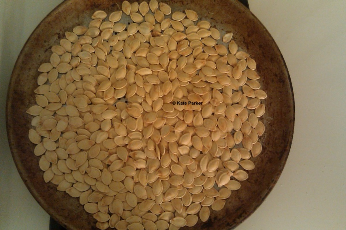 Step 6: Let the pumpkin seeds cool.