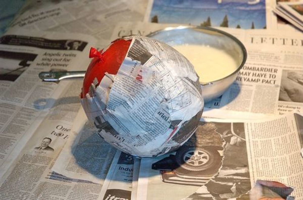 Paper mache with balloon mold