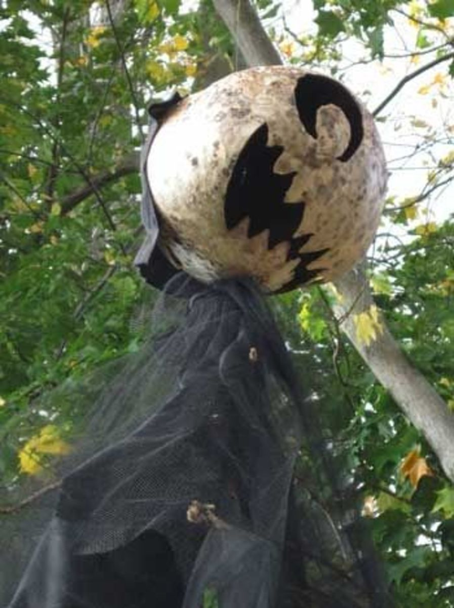 Paper mache flying Halloween monster
