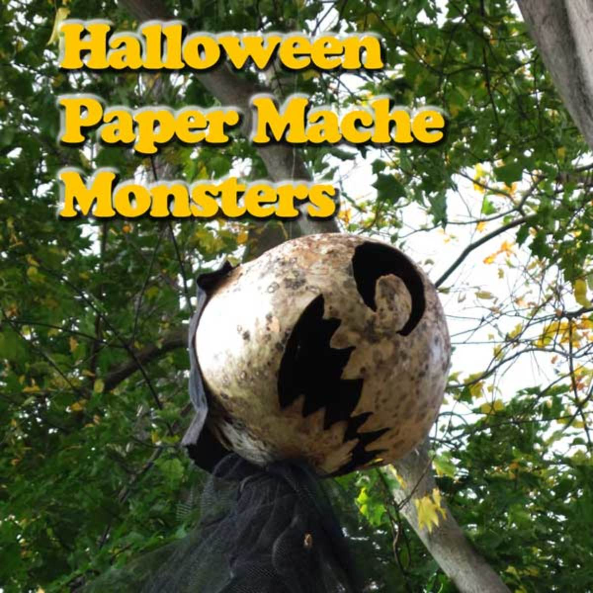 Halloween Monster Paper Mache Prop