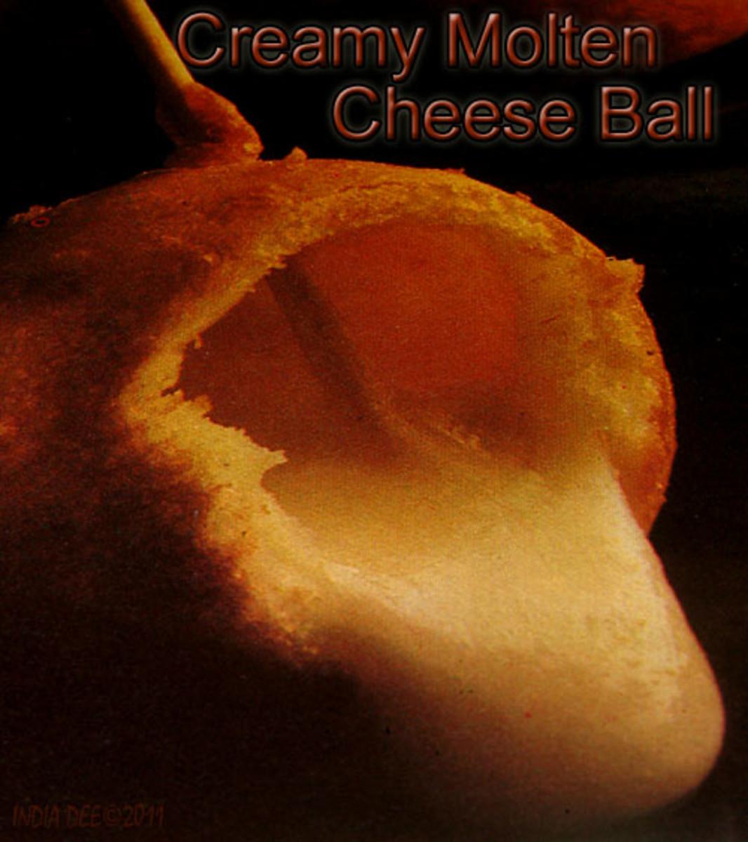Molten Cheese Ball Appetizer