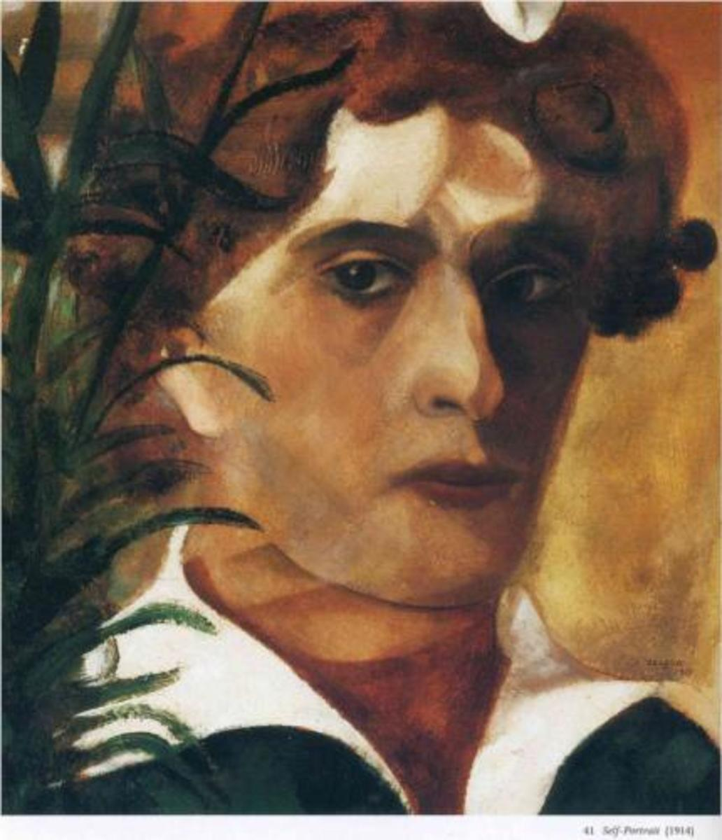 Marc Chagall-Self Portrait 1914