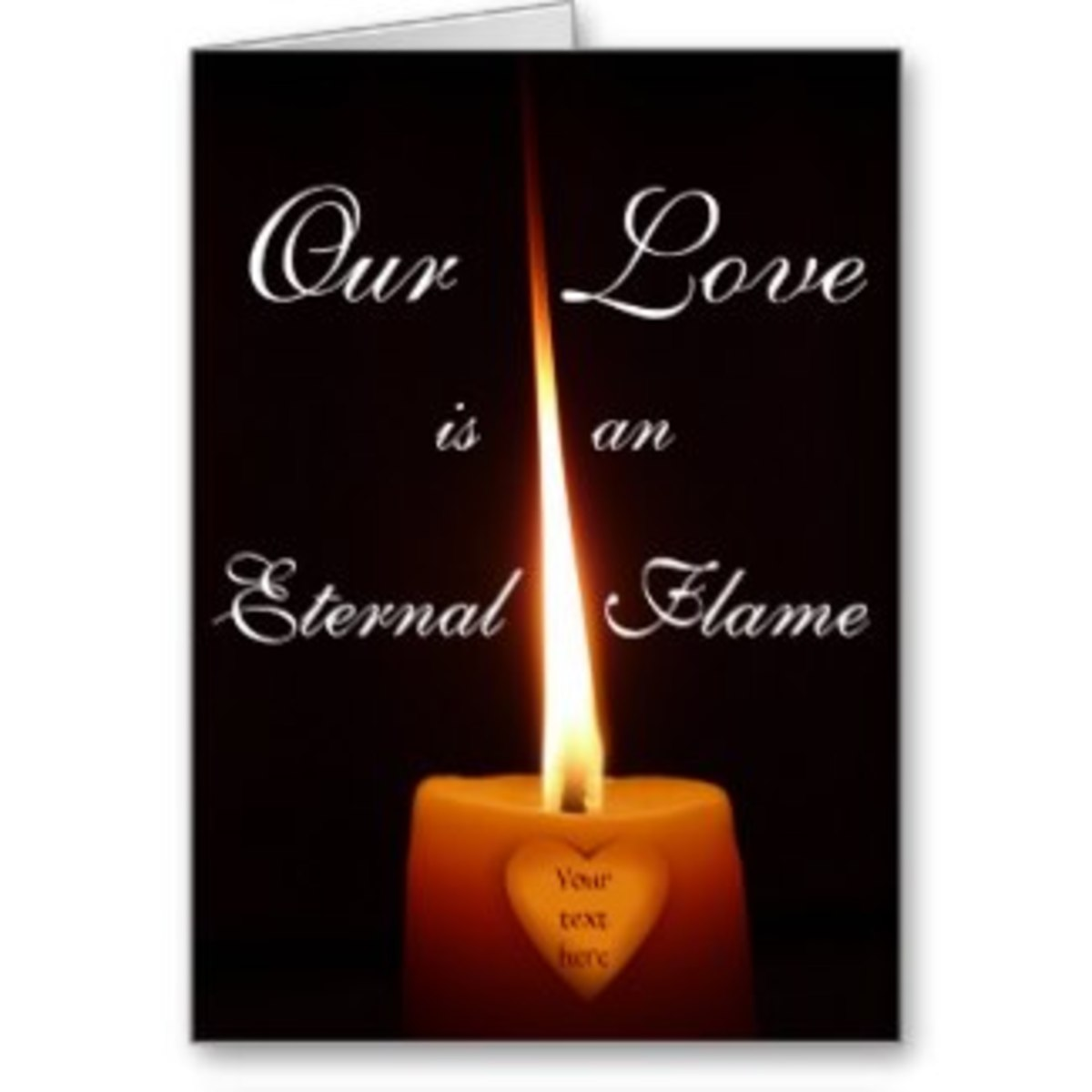 Eternal Flame Valentine Card