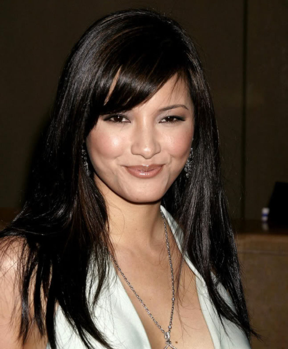 Kelly Hu layered hairstyle.